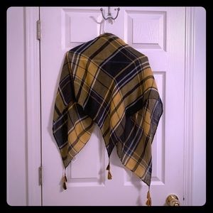 Accessories - Yellow and Navy Scarf;; Never worn!